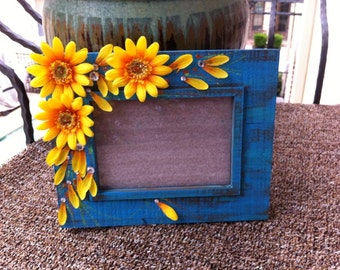 Hand-Painted Sunflower Frame