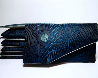 EllenVINTAGE PEACOCK CLUTCH With Silk Lining set of 4-5-6-7-8-9