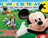 Mickey Mouse Clubhouse Invitation Digital File 4X6 or 5X7