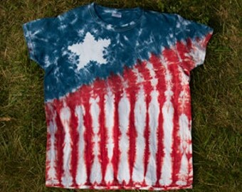 Star and Stripes Tie-Dye Tee