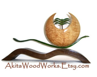 Wood Sculpture - Oriental Collection - Art by Akita Wood Works