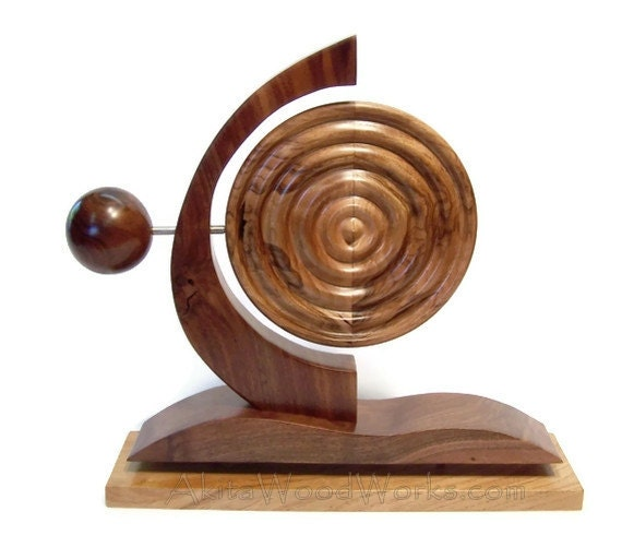 Elements Wood Sculpture - Abstract Art Sculpture by Akita Wood Works