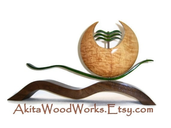 50% OFF SALE - Wood Sculpture - Oriental Collection - Art by Akita Wood Works
