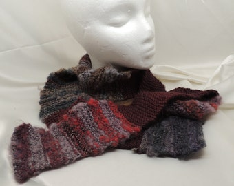 Long Fuzzy Knit Fashion Scarf