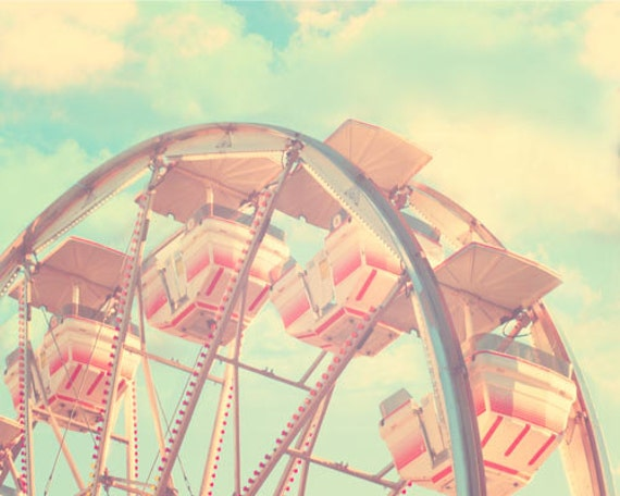 Carnival Nursery Decor Ferris Wheel Vintage Circus Print