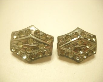 Vintage ART DECO RHINESTONE Jacket Fasteners or Adornments