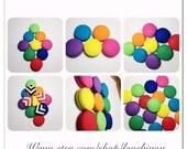 Button Earrings- Solid