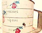 RESERVED Vintage Bromwell Sifter with Apples 1930s