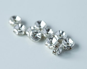 22 pieces Clear 5mm Rondelles