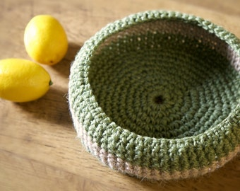 Crochet Bowl, Home accessorie, Garden accessorie, Mother day gift, Easter gift, Gift for women, Housewarming gift