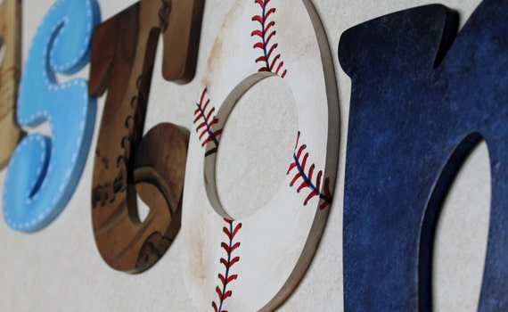 Items Similar To Vintage Varsity Sports Themed Hand