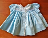 SALE Vintage Baby Blue with Lace Dress (baby)