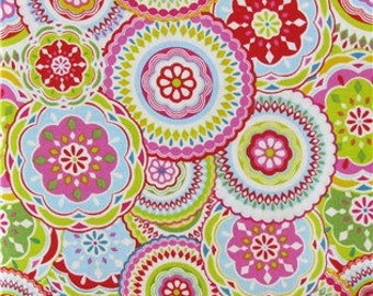 Cotton Fabric -  Pastel Medallion Cotton Fabric by the Yard - Quilt Fabric - Apparel Fabric - Home Decor Fabric - Fat Quarters