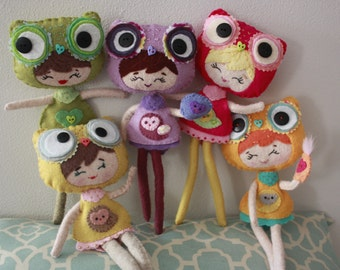 Plush Poseable Owl Girl Doll