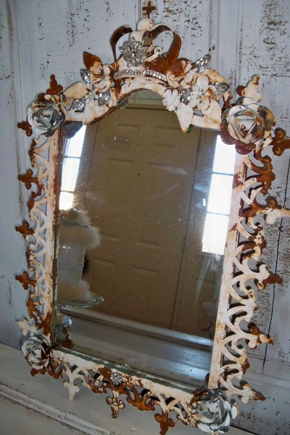 ornate large framed mirror french inspired frame embellished
