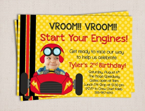 Adorable Little Racer Race Car Themed Birthday Party Printable – Free Printable Race Car Birthday Invitations