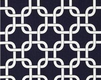 "Navy & White Gotcha Fabric Remnant 11"" x 92"""