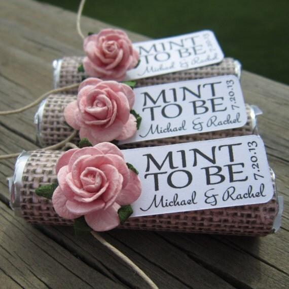Wedding Favors Set Of 100 Mint Rolls Mint By