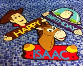 3 large Disney Toy Story door sign/ wall decorations (approx 11 in)