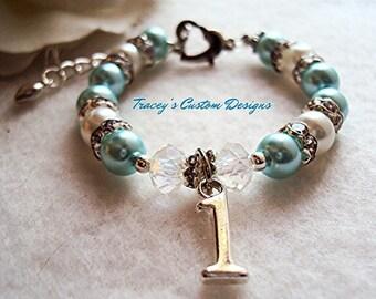 Stunning Baby's First Birthday Keepsake Bracelet - Custom made for you.