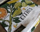 MINT Citrus Kay Dee Linen Kitchen Towel