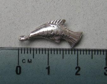 HT-54 Thai Hill Tribe Fine Silver Fish Charm