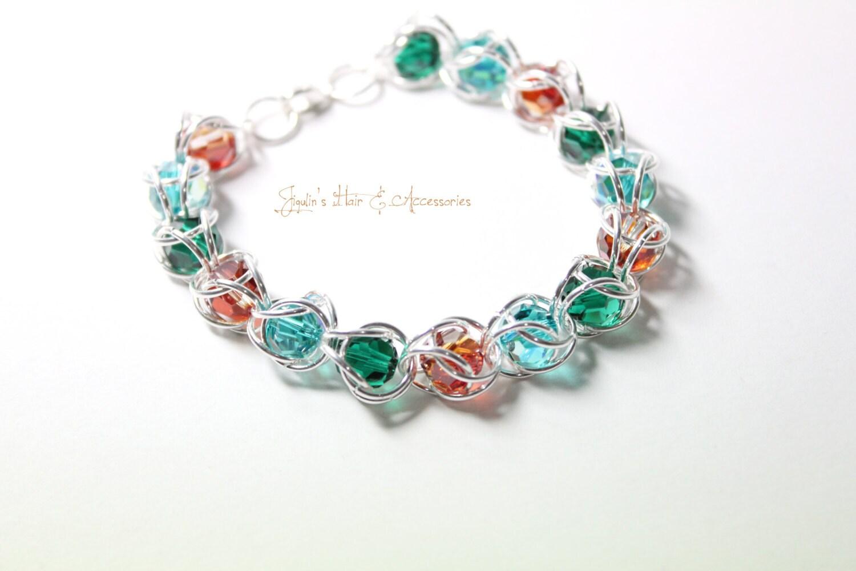 swarovski bead jumpring bracelet bohemia by jigulinsha