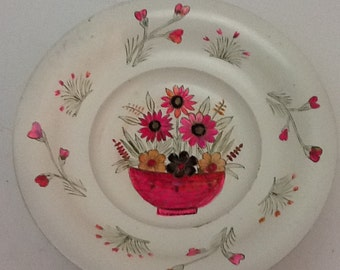 Vintage Brass Painted Dish