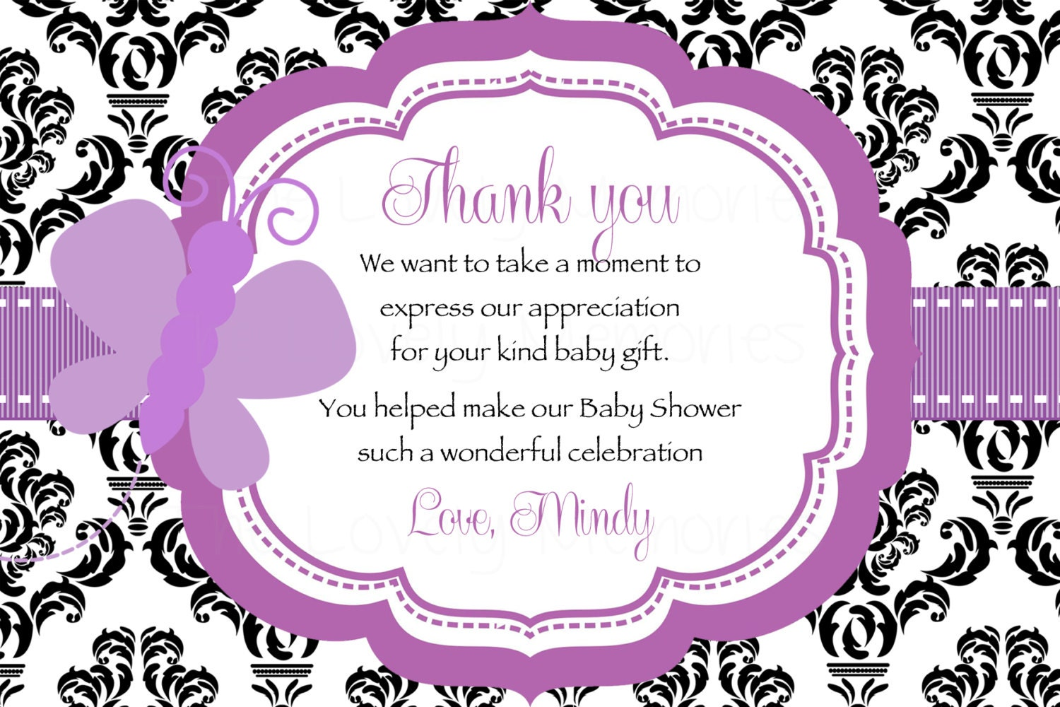 It's just an image of Obsessed Printable Baby Shower Thank You Cards