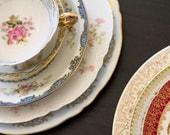 4 Piece Vintage Mismatched China Set