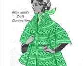 Vintage Fancy Cape Collar Sleeves 371 PDF Digital Crochet Pattern