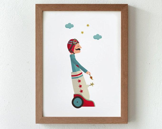 """Ilustración """" Viaje al estrellato """"."""