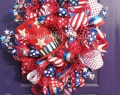 July 4th Patriotic Wreath