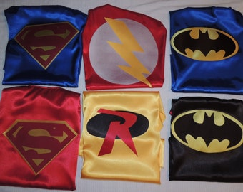 AWESOME double sided  Superhero Cape. YOU choose your two favorite superheros.