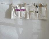 Organizer Space Saver - Hang Anywhere Canvas Wall Pockets - Heavy Duty & Washable
