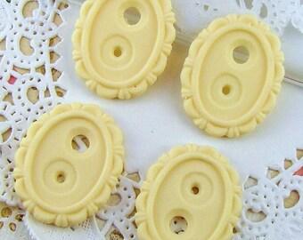 18x13mm Settings Ivory Cream Victorian Scalloped Edge Resin (4)