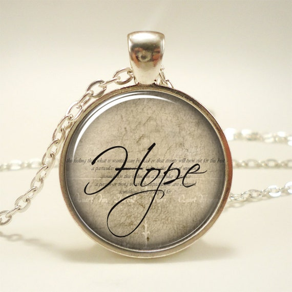 Hope Necklace, Word Pendant, Inspirational Jewelry (1376S1IN)