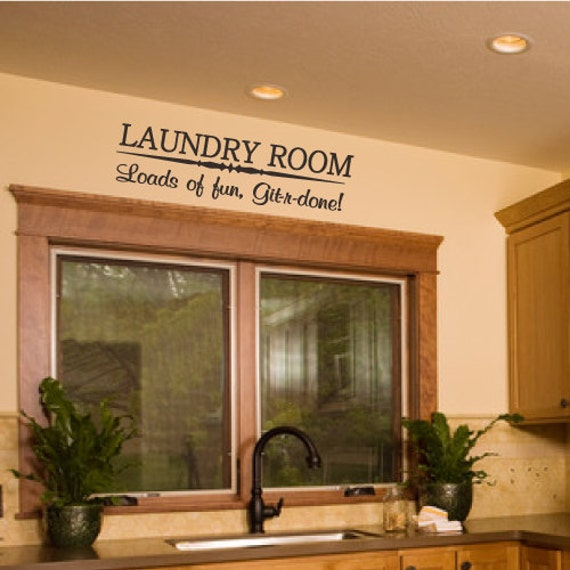 Laundry room home wall decal decor funny quote vinyl art for Odd decorations for home