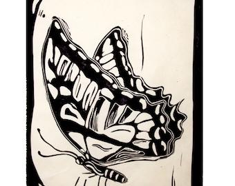Butterfly LINOGRAVURE LINOCUT