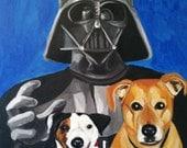 18 x 24 Custom Pet Celebrity Portrait Acrylic