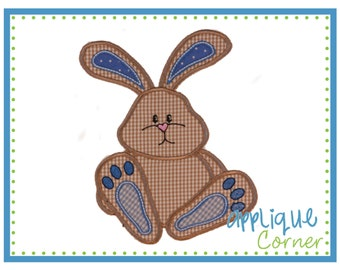 928 Easter Bunny Sitting digital design for embroidery machine by Applique Corner