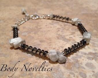 Raw Howlite gemstone Bracelet