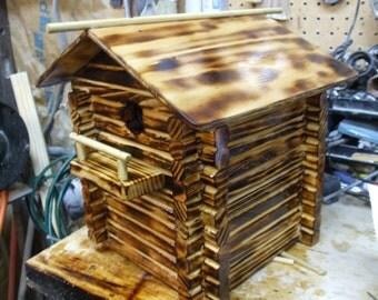 Sparrow Log Cabin Bird House