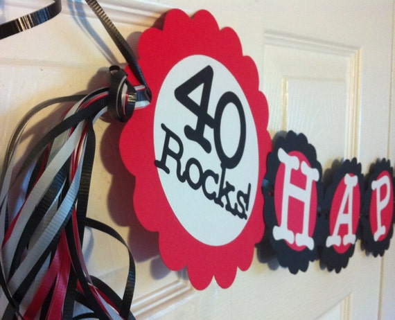 40th birthday for 40th anniversary party decoration ideas