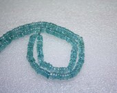 Natural AAA Quality Apatite 4 to 5mm Flat Smooth Tyre HEISHI Gemstone Beads 15 Inches BA002