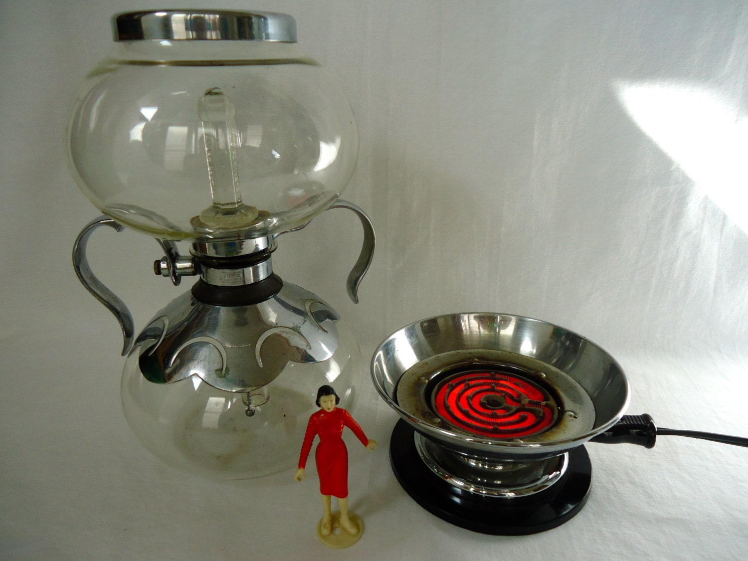 Vintage Vacuum Glass SILEX COFFEE Maker / Pinehurst Decorated