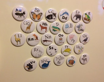 "2.25"" Magnetic Animal Alphabet Set - Set of 26"