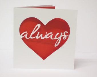 Always in my heart papercut card