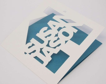 New Home personalised papercut card