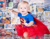 Super Hero Tutu Costume Set  Small